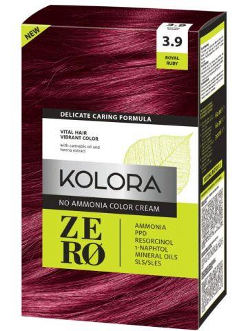 Vopsea de păr fără amoniac Kolora Zero Rubiniu regal