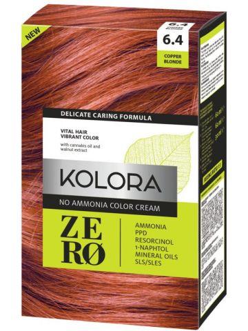 Vopsea de păr fără amoniac Kolora Zero Blond cupru