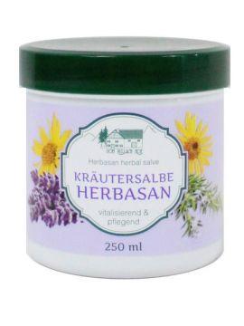 "Crema tip unguent HERBASAN ""Miracolul naturii"" cu uleiuri esențiale de rozmarin, levanțica și arnica 250 ml"