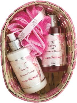 SET SPA AROMATERAPIE-VICTORIA BEAUTY FANTEZIE DE TRANDAFIR (LOTIUNE DE CORP 250 ML+GEL DE DUS 250 ML)