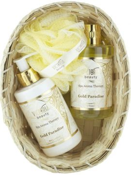 SET SPA AROMATERAPIE- VICTORIA BEAUTY AURUL PARADISULUI (LOTIUNE 250 ML+ GEL DE DUS 250 ML)