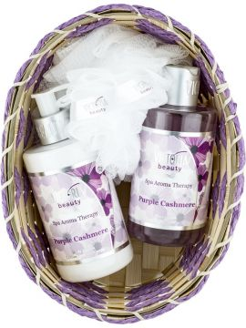 SET SPA AROMATERAPIE-VICTORIA BEAUTY CASMIR VIOLET(LOTIUNE DE CORP 250 ML+ GEL DE DUS 250 ML)