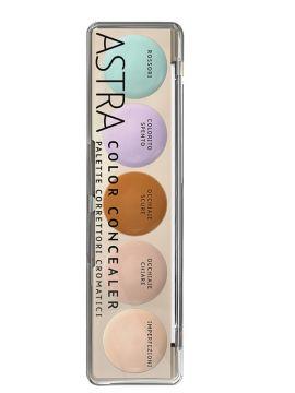 PALETA CORECTOR, ANTICEARCAN, CONCEALER 5 culori- ASTRA Paleta culorilor cromatice (6,5gr)