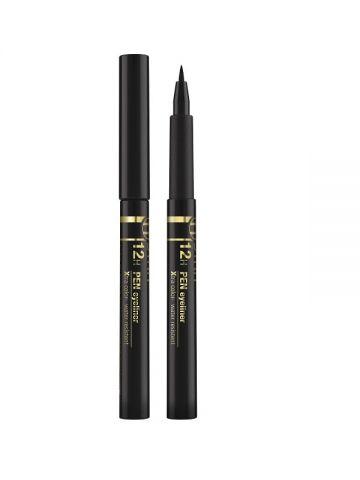 12H PEN EYELINER Extra negru și neted (1,1 ml)- ASTRA