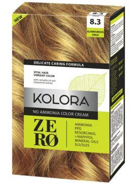Vopsea de păr fără amoniac Kolora Zero Blond Auriu Inchis