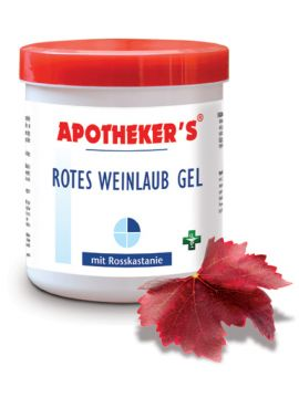 Gel cu frunza de vita de vie rosie si castane salbatice - Apotheker's 500 ML