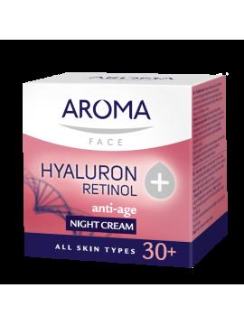 Cremă de noapte cu Hyaluron + Retinol