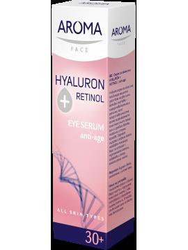 Ser cu acid hyaluronic și retinol pentru ochi